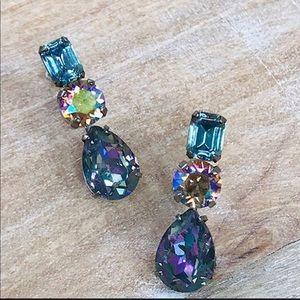 Sorrelli Triple Crystal Dangle Earrings, NWT